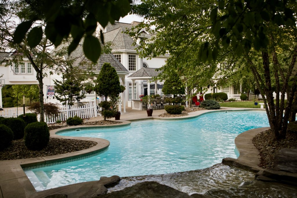 Luxury Pools Waterfalls Pittsburgh Pa Custom Inground Pools